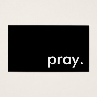 pray. business card