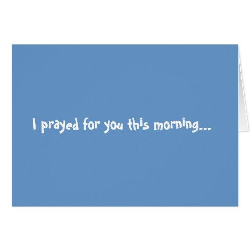 pray greeting card