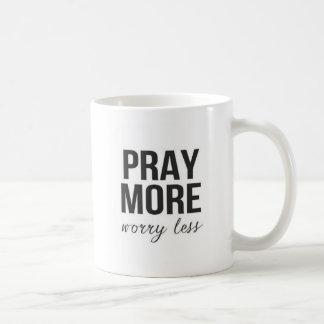 Pray dwells worry less phrase Mug