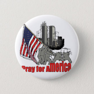 Pray for america 6 cm round badge