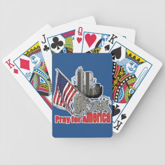 Pray for america bicycle playing cards