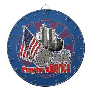 Pray for america dartboard