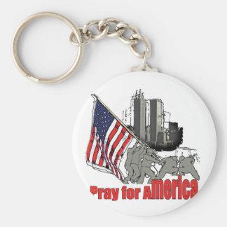 Pray for america key ring