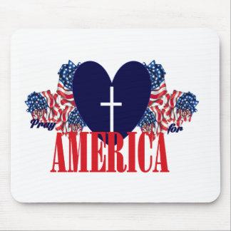 Pray for America Mousepads