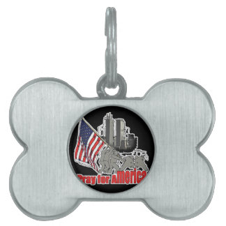 Pray for america pet tag