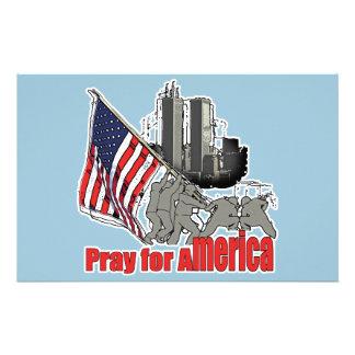 Pray for america stationery