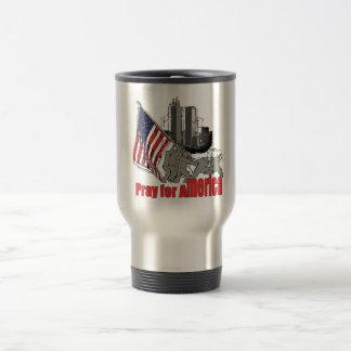 Pray for america travel mug