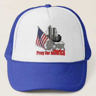 Pray for america trucker hat