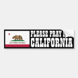 Pray for California Bumper Sticker