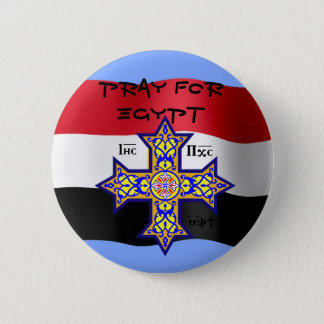 Pray for Egypt Coptic Cross - will donate proceeds 6 Cm Round Badge