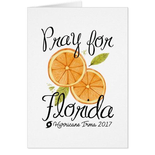 Pray For Florida Card