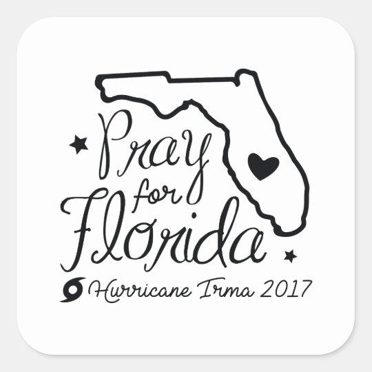 Pray For Florida Square Sticker