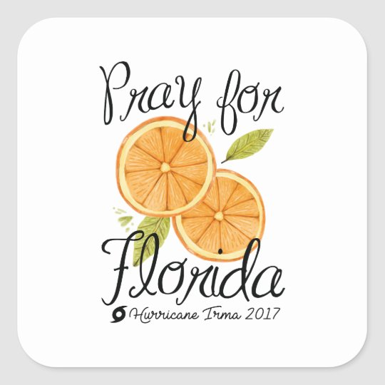 Pray For Florida Square Sticker