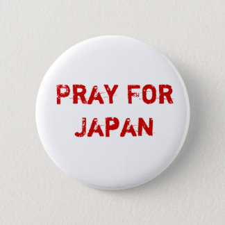 Pray for Japan 6 Cm Round Badge