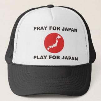 PRAY FOR JAPAN, PLAY FOR JAPAN. TRUCKER HAT
