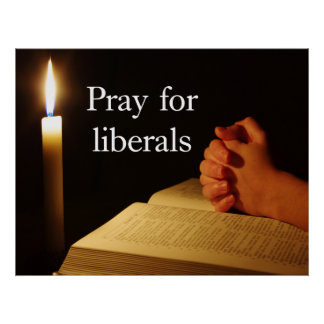Pray for Liberals Poster