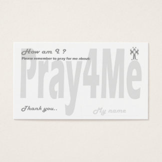 Pray for me remembrance card