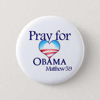 Pray for Obama Button