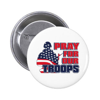 Pray For Our Troops 6 Cm Round Badge