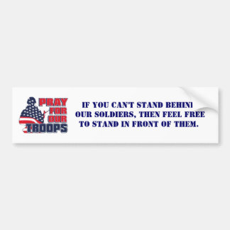 Pray For Our Troops Bumper Sticker