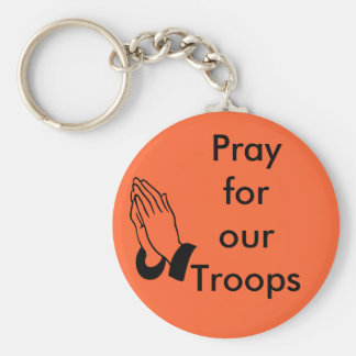Pray for our troops keychain