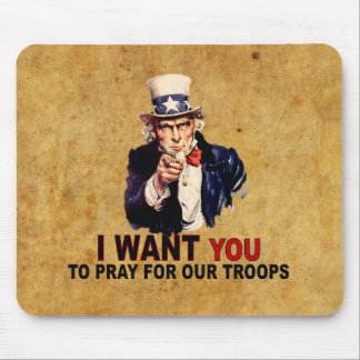 Pray For Our Troops Mouse Pads