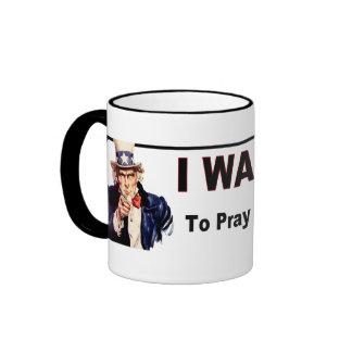 Pray For Our Troops Ringer Mug