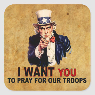 Pray For Our Troops Stickers