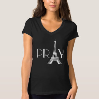 Pray for Paris Eiffel Tower T-Shirt