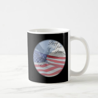 PRAY FOR PEACE Dove and Flag Mug
