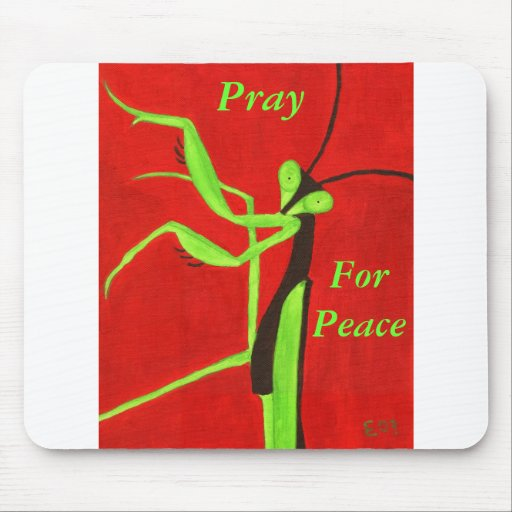 """Pray For Peace"" Mouse Pad"
