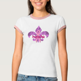 Pray for pink Fleur de lis T-Shirt