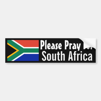 Pray for South Africa Bumper Sticker