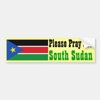 Pray for South Sudan Bumper Sticker