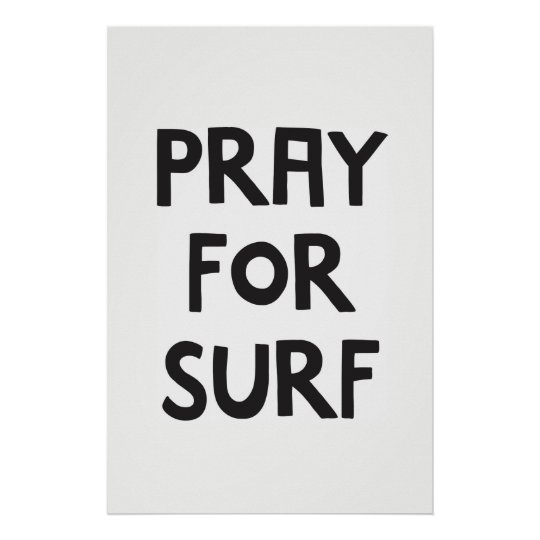 Pray for surf poster