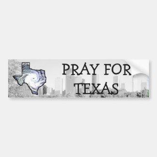 Pray for Texas, Hurricane Support Bumper Sticker