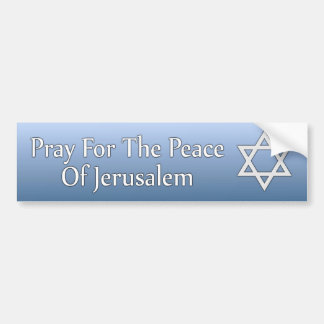 Pray for the Peace of Jerusalem Star of David Bumper Sticker