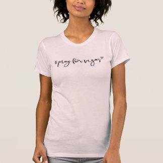 PRAY FOR VEGAS modern minimal handlettered type T-Shirt