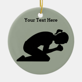 Pray Hard. There is power in prayer. Ceramic Ornament
