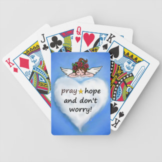 Pray, hope and don't worry! bicycle playing cards