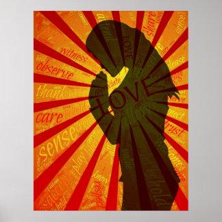 Pray, Meditate, Powerful Empowerment Poster