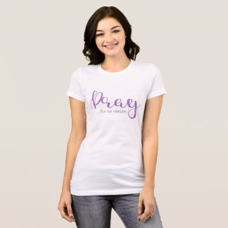 Pray Purple Glitter T-Shirt