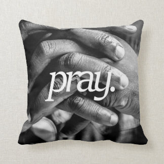 pray. Religious Design 2 Side Print Cushion