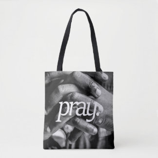 pray. Religious Design 2 Side Print Tote Bag