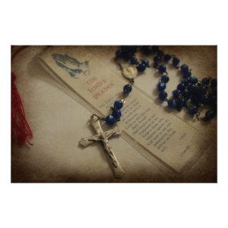 Prayer and Rosary Photo Print