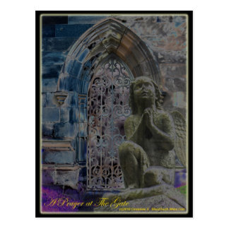 prayer at the gate postcard