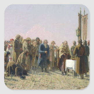 Prayer During the Drought, 1880 Square Sticker