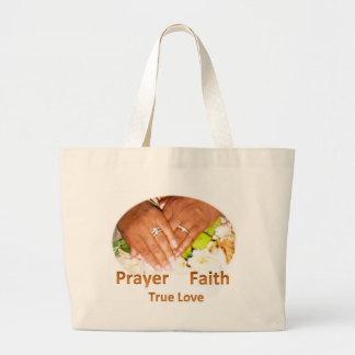 Prayer Faith True Love Tote Bags