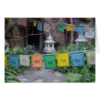 PRAYER FLAGS AT TEMPLE CARD