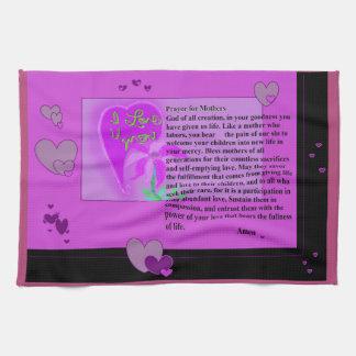 Prayer for Mothers Tea Towel